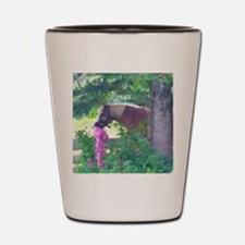Girl with Horse Shot Glass
