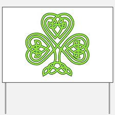 Celtic Shamrock Yard Sign