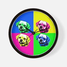 Pop Art Puggle<bR> Wall Clock