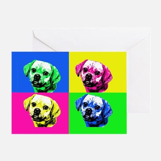 Pop Art Puggle<bR> Greeting Card