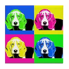 Pop Art Bagel<br> Tile Coaster