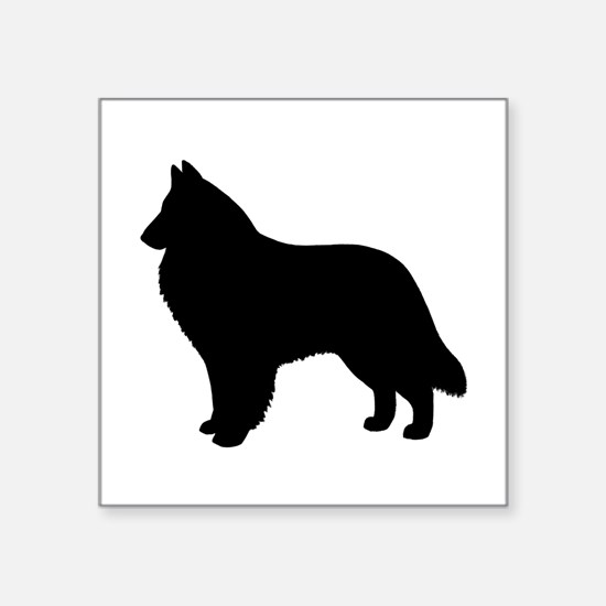 "Belgian Sheepdog Square Sticker 3"" x 3"""