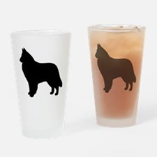 Belgian Sheepdog Drinking Glass
