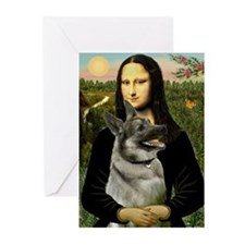 Mona & Norweign Elkhound Greeting Cards (Pk of 20