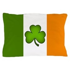 Irish Flag Shamrock Pillow Case