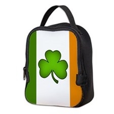 Irish Flag Shamrock Neoprene Lunch Bag