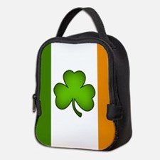 Irish Flag Shamrock Neoprene Lunch Bag