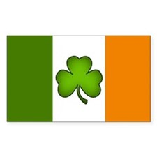Irish Flag Shamrock Decal