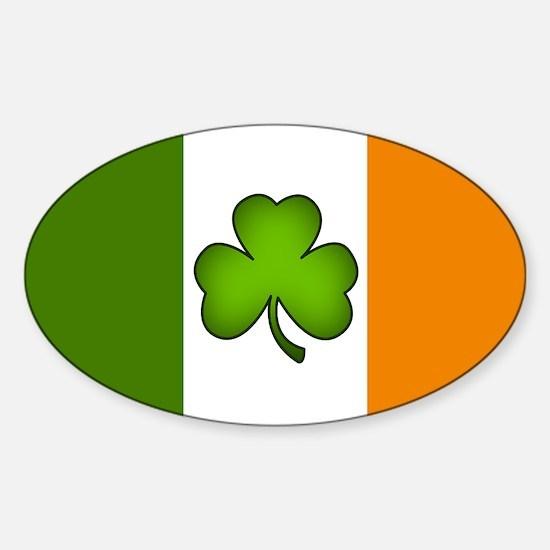 Irish Flag Shamrock Decal