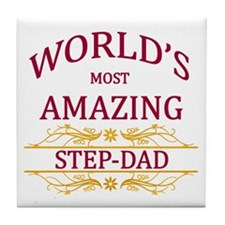Step-Dad Tile Coaster