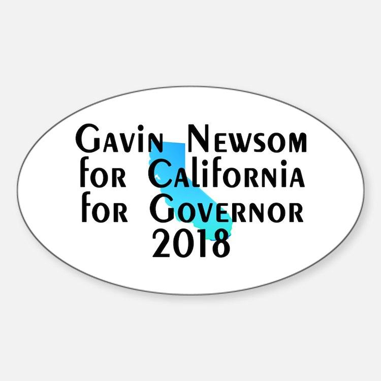 Gavin Newsom, Governor - Sticker (Oval)