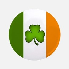"Irish Flag Shamrock 3.5"" Button"