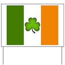 Irish Flag Shamrock Yard Sign