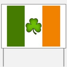 Irish Flag Shamrock Yard Sign