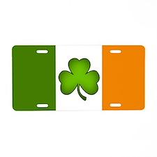 Irish Flag Shamrock Aluminum License Plate
