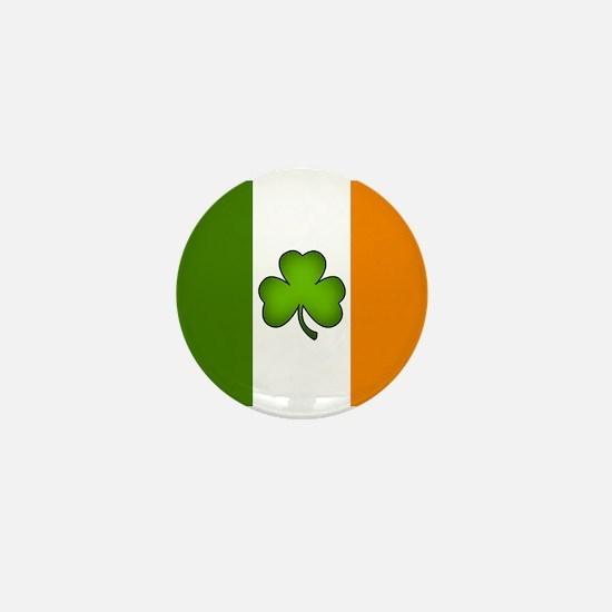 Irish Flag Shamrock Mini Button