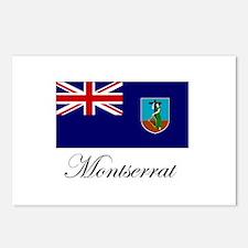 Montserrat - Flag Postcards (Package of 8)