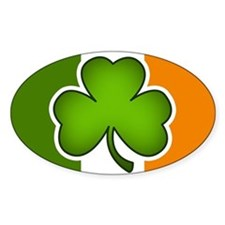 Irish Flag Shamrock Bumper Stickers