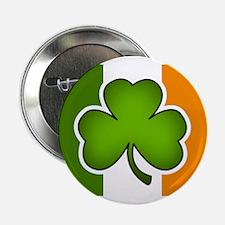 """Irish Flag Shamrock 2.25"""" Button"""
