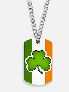 Irish Flag Shamrock Dog Tags