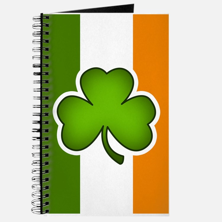Irish Flag Shamrock Journal