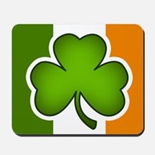 Irish Flag Shamrock Mousepad