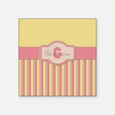 Stripes2015G2 Square Sticker 3 x 3