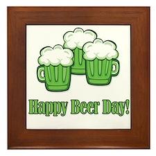 Happy Green Beer Day! Framed Tile