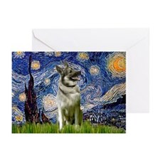 Starry Night Elkhound Greeting Cards (Pk of 20)