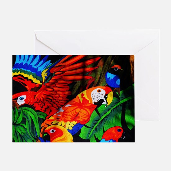 Parrot Paradise Greeting Card