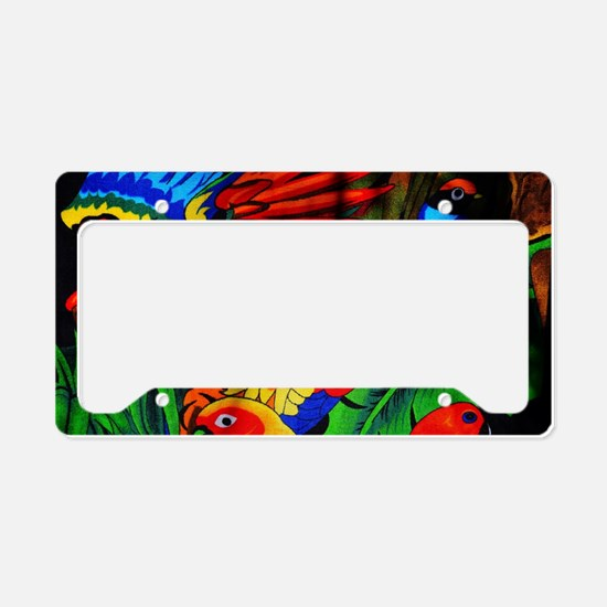 Parrot Paradise License Plate Holder