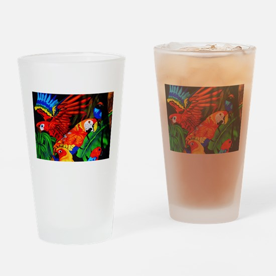 Parrot Paradise Drinking Glass