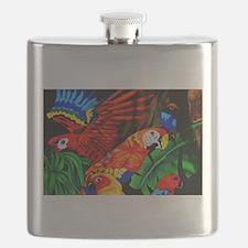 Parrot Paradise Flask