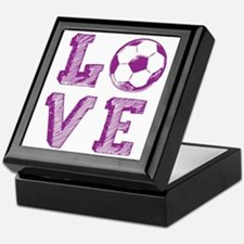 Girly Love Soccer Keepsake Box