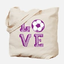 Girly Love Soccer Tote Bag