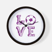 Girly Love Soccer Wall Clock