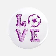 "Girly Love Soccer 3.5"" Button"