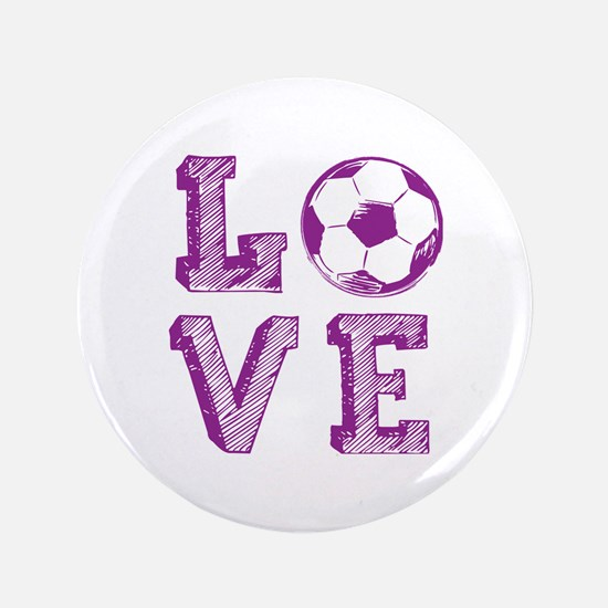 "Girly Love Soccer 3.5"" Button"