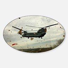 Caught in the storm Sticker (Oval)