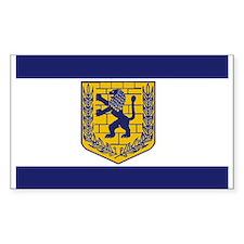Jerusalem Municipal Flag Rectangle Decal