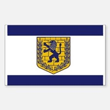 Jerusalem Municipal Flag Rectangle Decal