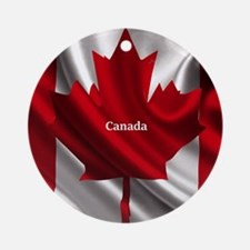 Canadian Flag Round Ornament