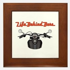 Biker's Life Behind Bars Framed Tile