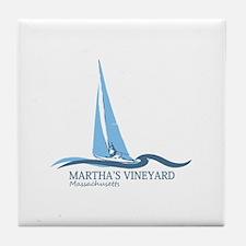 Martha's Vineyard. Tile Coaster