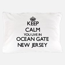 Keep calm you live in Ocean Gate New J Pillow Case