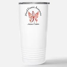 Heart Disease Butterfly Stainless Steel Travel Mug
