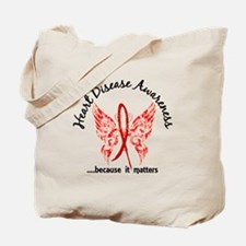 Heart Disease Butterfly 6.1 Tote Bag
