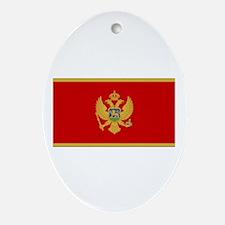Montenegro Flag Oval Ornament