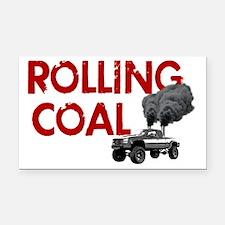 Rolling Coal Diesel Truck Rectangle Car Magnet