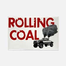 Rolling Coal Diesel Truck Rectangle Magnet